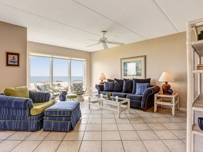 Photo for 2nd Floor, remodeled 2 Bed/2 Bath Oceanfront condo sleeps 6.  Oceanfront deck and pool.