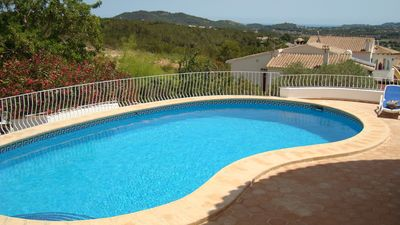 Photo for A fabulous family villa with private pool and views of the mountains near Javea