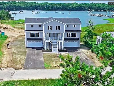 Photo for Beautiful new home in Camp Ellis - spectacular water views and steps to beach
