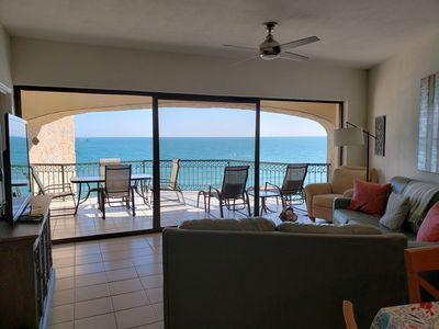Photo for Waterfront 2 bedroom 2 bath. Overlooking the Sea of Cortez and White Sandy Beach