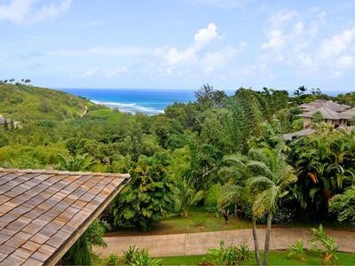 Photo for Hawaiiana home with pool, ocean and lush valley views!