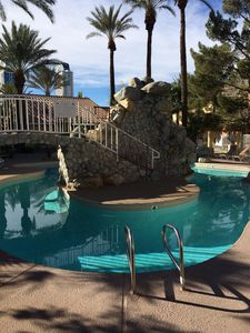 The beautiful pool directly behind our condo.