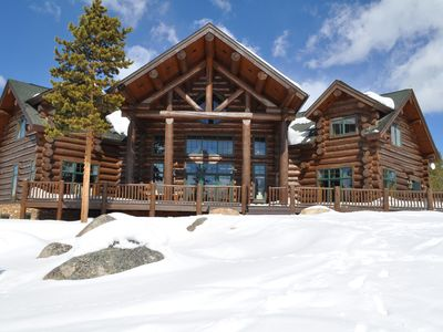 Photo for 10,000sf log home! 7 bedrooms 7 bathrooms on 15 acres w lake and mountain views