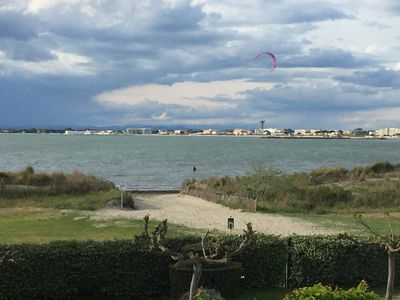 Photo for P2cabin direct beach Port-Camargue-Sea view