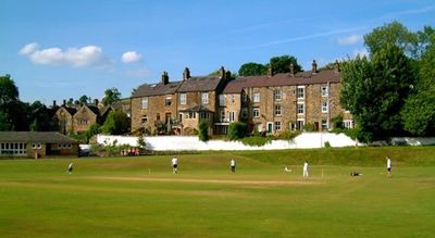 view of the house from across the cricket pitch