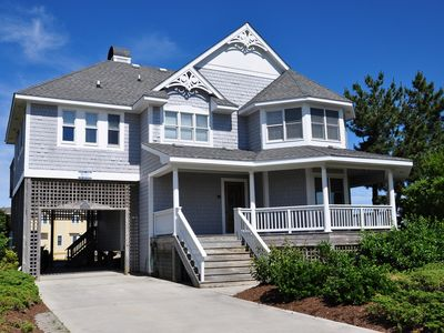 Photo for Sunsplash: Perfect 4 bedroom home with private pool and hot tub, located Oceanside in Corolla, NC.