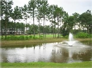 View from the Back Patio to lake and Hole #4 of Norman Course
