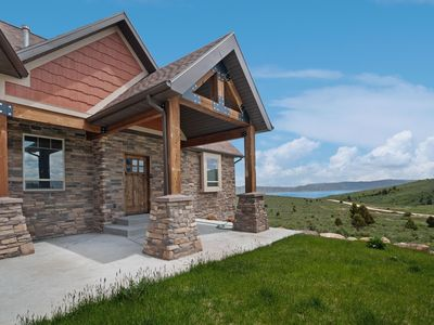 Photo for New home overlooking Bear Lake with private hot tub & theater room