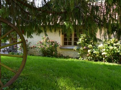 Photo for Nice holiday home on a private island in green, cultural area near Le Ponchel