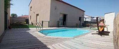 Photo for Villa rental, air conditioning, swimming pool, near barcarès torreilles St marie