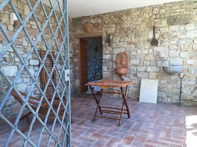 Photo for House under the Rocca with sea view, in the heart of a medieval village