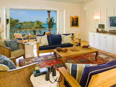 Photo for Private Island Retreat with Private Beach,  Dock, Palm Trees & Glorious Sunsets