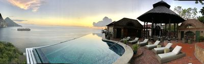 Pool, Ocean and Piton view