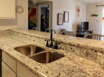New granite counter tops and sink