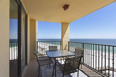 Private Covered Balcony Overlooking the Gulf
