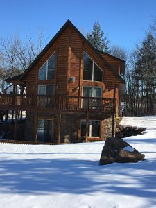Photo for Beautiful Log Home Will Offer You The Best Of Modern And Rustic World