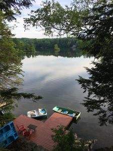 Photo for Berkshire lake house on lake Garfield, Monterey MA; private, 4 BR, sleeps 10
