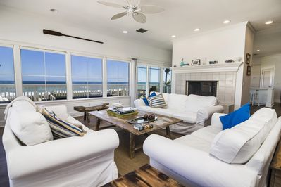 Main Living room with stunning ocean views.