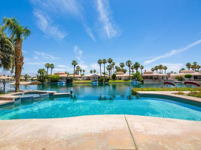 Executive Lakefront La Quinta Gem with Infinity Pool, Boats, and Casita