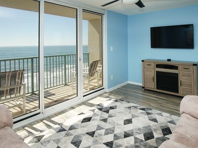 Photo for Spacious 3 bedroom oceanfront condos with a glass-enclosed all-weather pool.