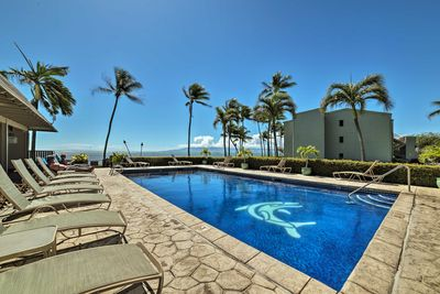 Sink into the pool or lounge while relishing the views.