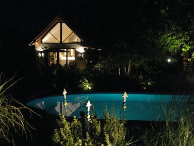 Photo for Luxurious holiday home with heated pool, 10 minutes drive from Lake Balaton