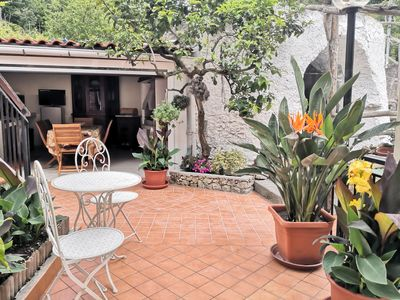 Photo for 140 square meters for Families, Bikers & Climbers inland Finale Ligure