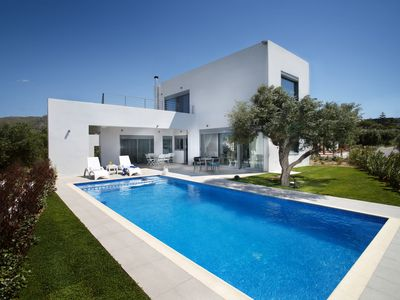 Photo for A modern villa with advanced automation systems in the middle of olive trees!
