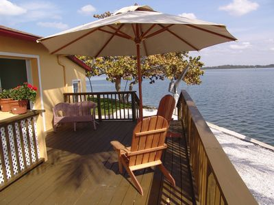 Photo for Water Front, High End Private Home, Heated Pool, Dock, Short Walk To Beach