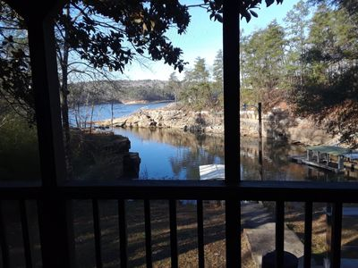 Photo for Relaxing lakefront home on Smith Lake with easy water access