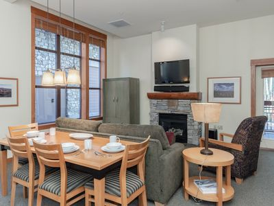 Photo for Elegant studio Village condo with lodge amenities and Sherwin Mountain views