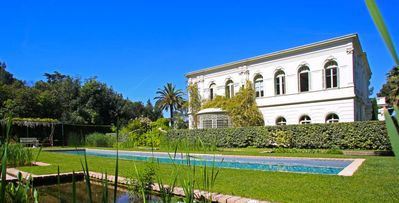 Photo for Le Pradet, 10-bdrm castle-like villa on the French Riviera, private beach