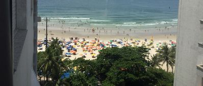Photo for Charming Apartment Guarujá  Building on the Beach Avenue