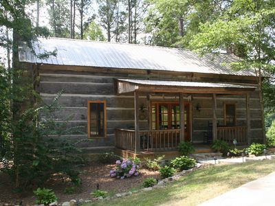Photo for Looks Rustic But Luxury Awaits You at Two Cabins Lodge.  Lakefront with pool.
