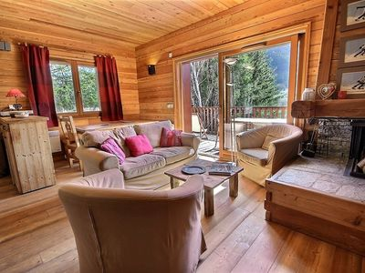 Photo for The charming Mônetier-Apartment decorated in a chalet spirit, double terrace