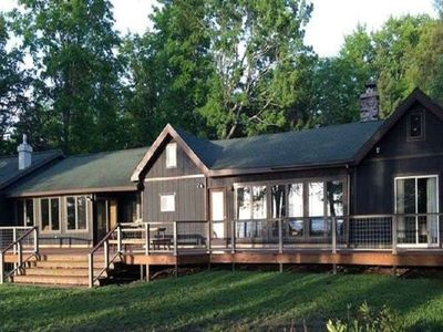 Photo for AU TRAIN ISLAND VIEW LODGE (on LAKE SUPERIOR): WIFI-beautiful,clean lakefront cottage. (sleeps 14)