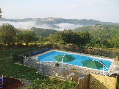 Lovely large pool with fantastic views