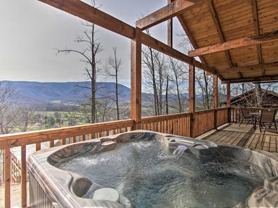 Photo for NEW! Sevierville Cabin w/ Hot Tub in Smoky Mtns!