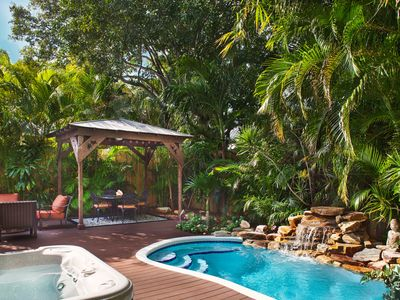 Photo for Parrot Dice, Old Town Tropical Oasis, Private Pool, Hot Tub, Private Driveway