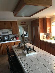 Fully equipped kitchen, open concept right off of the living room!