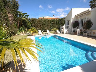 Photo for Luxury Private Villa, La Cala, 150 meters Beach, Secluded  Pool, Wifi, Golf