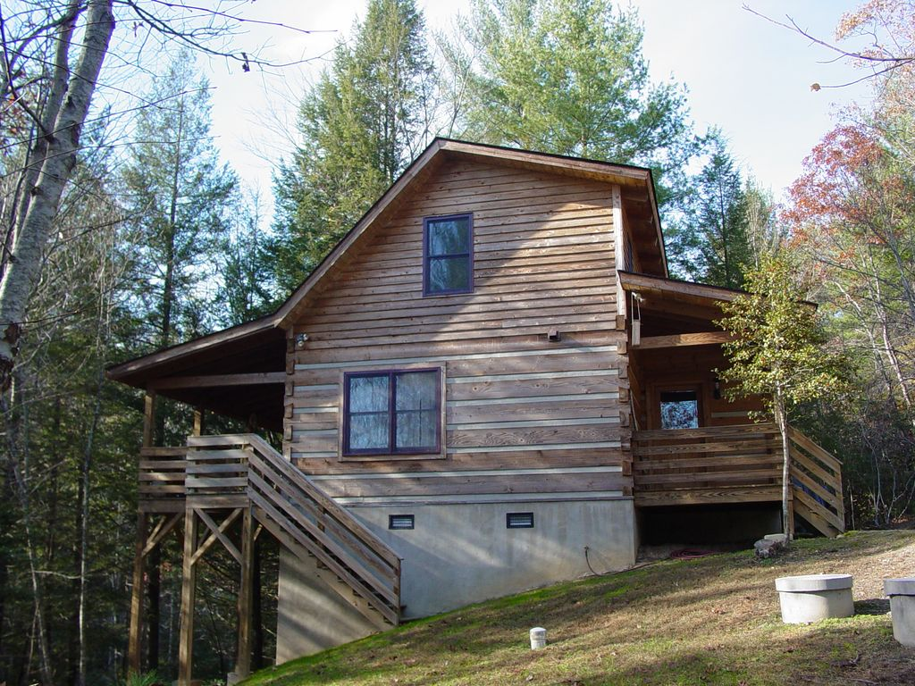 image secluded near home hotel this cabins property gallery booking purlear log creek boone overlooking com cabin nc us vacation of bear