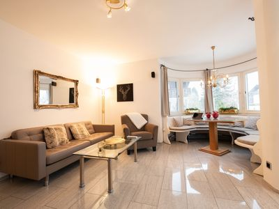 Photo for This romantic holiday apartment in Garmisch-Partenkirchen offers space for up to seven people with its almost 100 square meters of space. With conservatory and garden.