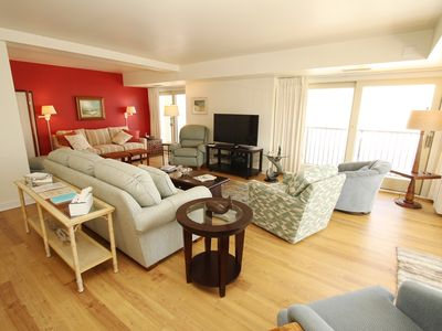 Photo for LINENS INCLUDED*!. OCEANFRONT /BOARDWALK BUILDING W/ ROOFTOP POOL