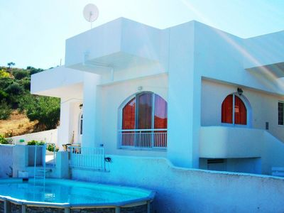 Photo for This 2-bedroom villa for up to 5 guests is located in Marathonas and has a private swimming pool, ai