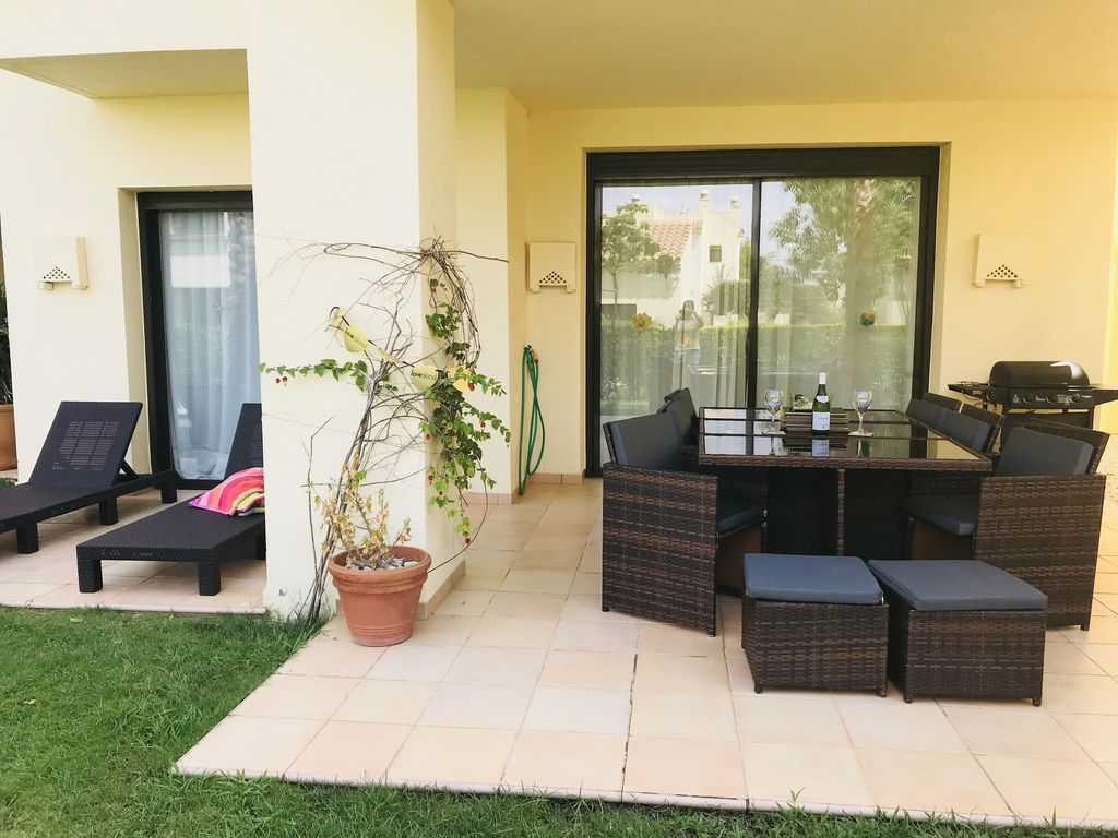 Luxury ground floor 2 bed 2 bath apartment at 5* Roda Golf Resort, freeWIFI