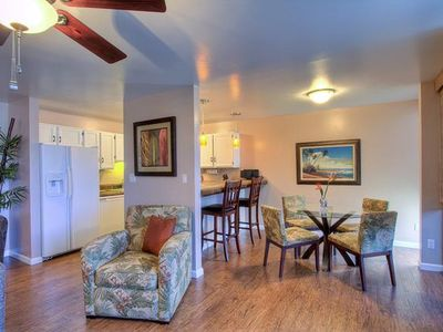 Ocean views,   2 Bed/1Bath. A/C in all rooms. Across from beach!