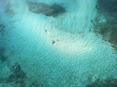 Stingray Sandbar from the helicopter