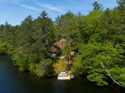 Photo for Two dog-friendly, lakefront cottages w/ hot tub, mountain views, and more!