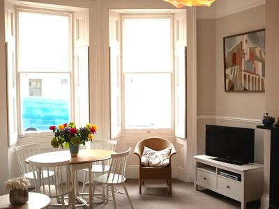 Photo for Elegant 2 bedroom Regency apartment with secluded garden. Sea views. Sleeps 4